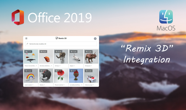 L'assistant Office intégré « Remix 3D »