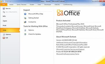 Microsoft outlook 2010 - Office pro 2010