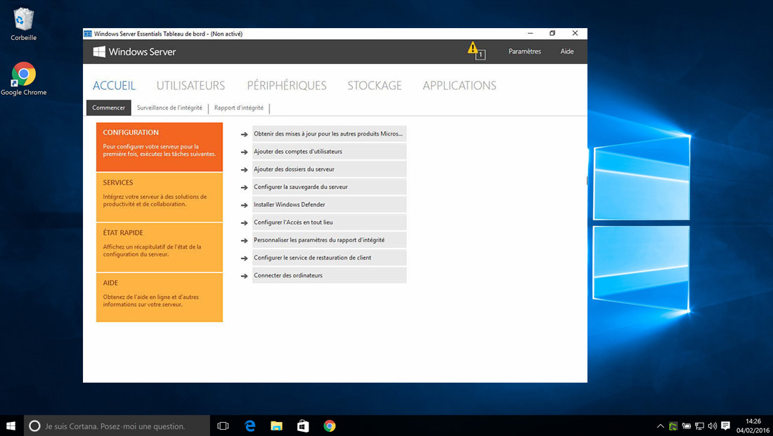 Installer Windows Server 2016 – 10 User CALs