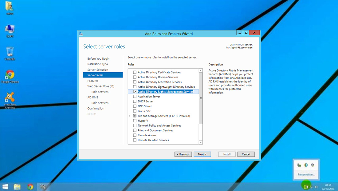 Installer Windows Storage Server 2012 Workgroup